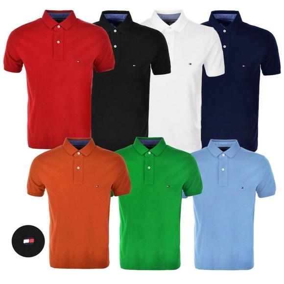 7abc34b2f8a6 Tommy Hilfiger New Men s Polo Short Sleeve Shirt